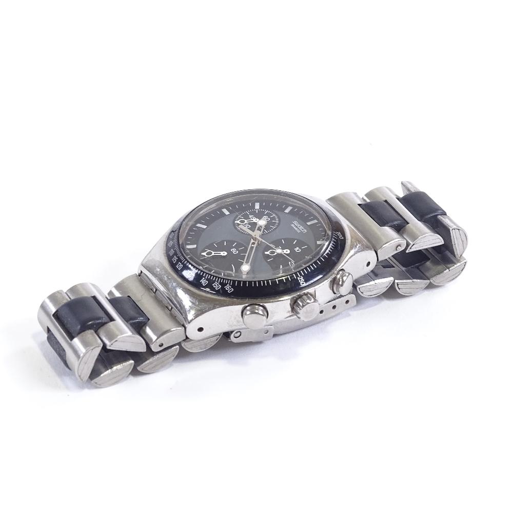 SWATCH - a stainless steel Irony Windfall quartz chronograph wristwatch, ref. YCS410GX, circa - Image 2 of 5