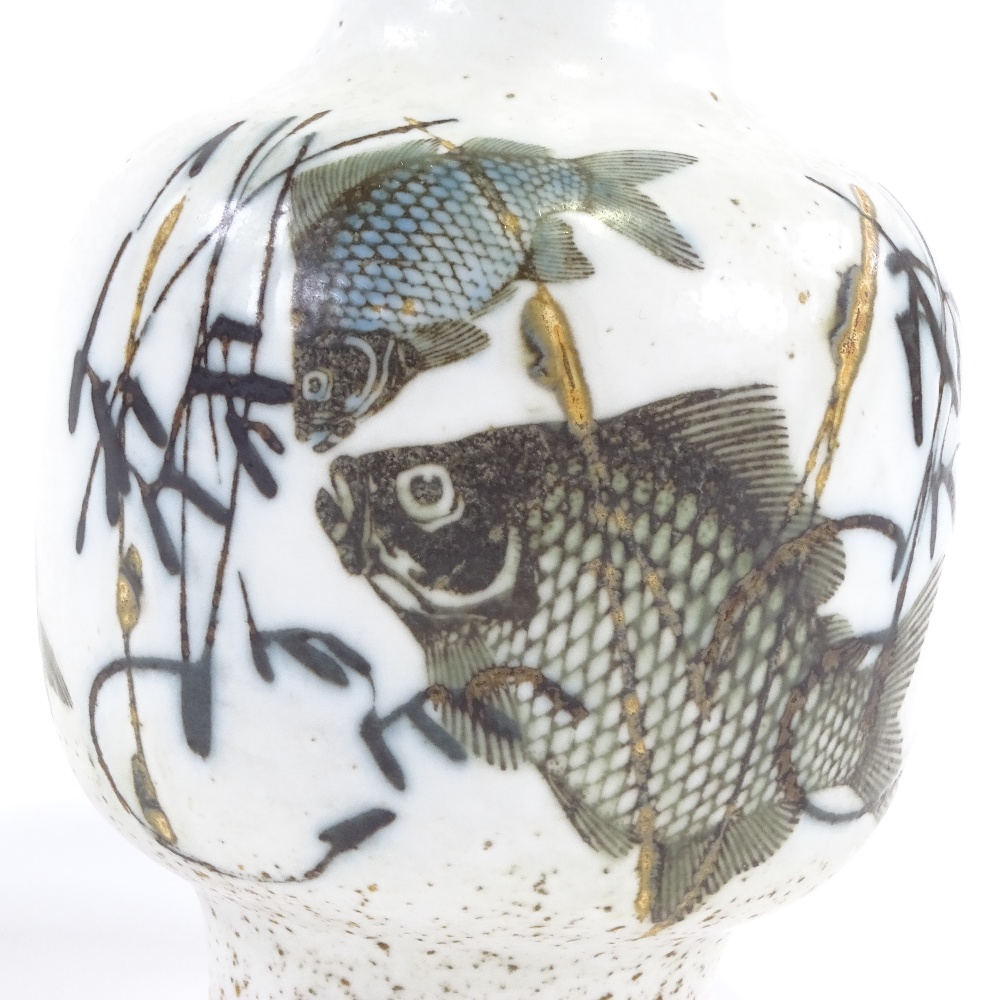 NILS THORSSON FOR ROYAL COPENHAGEN - a Mid-Century Danish pottery Diana Series vase, narrow neck