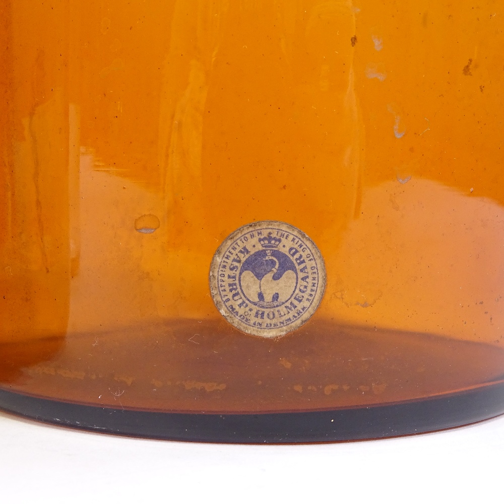 OTTO BRAUER FOR HOLMEGAARD - a set of 4 Vintage vari-colour glass Gulvvases (Gul Vase), in amber, - Image 3 of 5