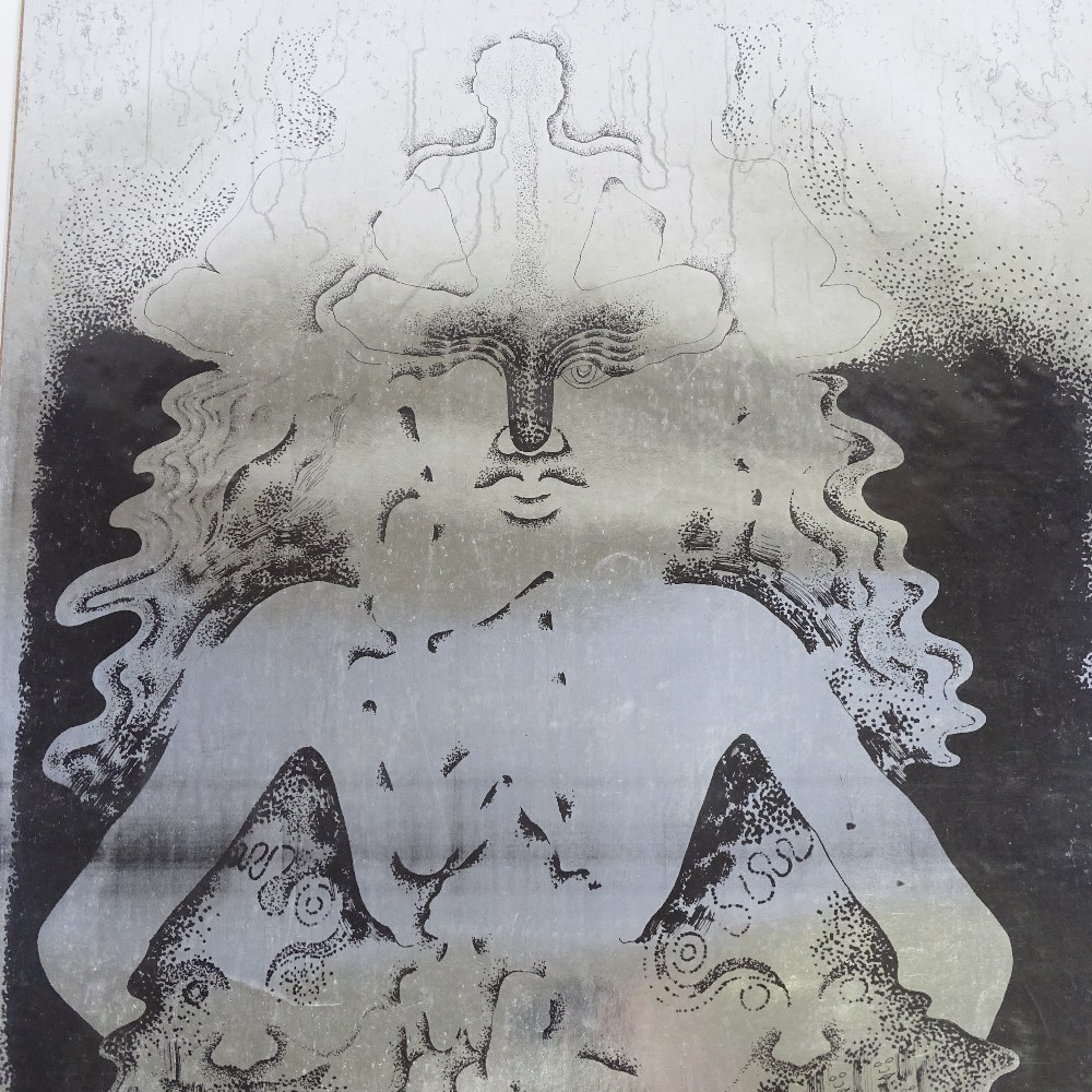 DAVID VAUGHAN (1944-2003) - a 1970s foil screenprint poster, BOP5 Buddha, published by...