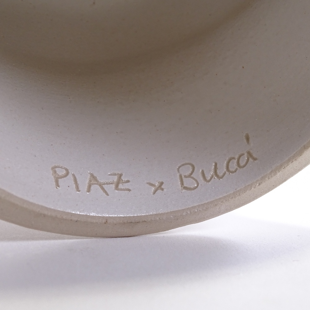 PIAZ X BUCCI - a Mid-Century Italian white ceramic pottery bust of a man, incised signature inside - Image 5 of 5