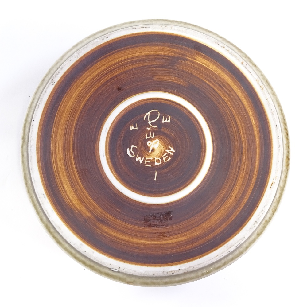 OLE ALBERIUS FOR RORSTRAND - a Mid-Century Swedish Studio Pottery Bamboo dish, squat cylindrical - Image 5 of 5