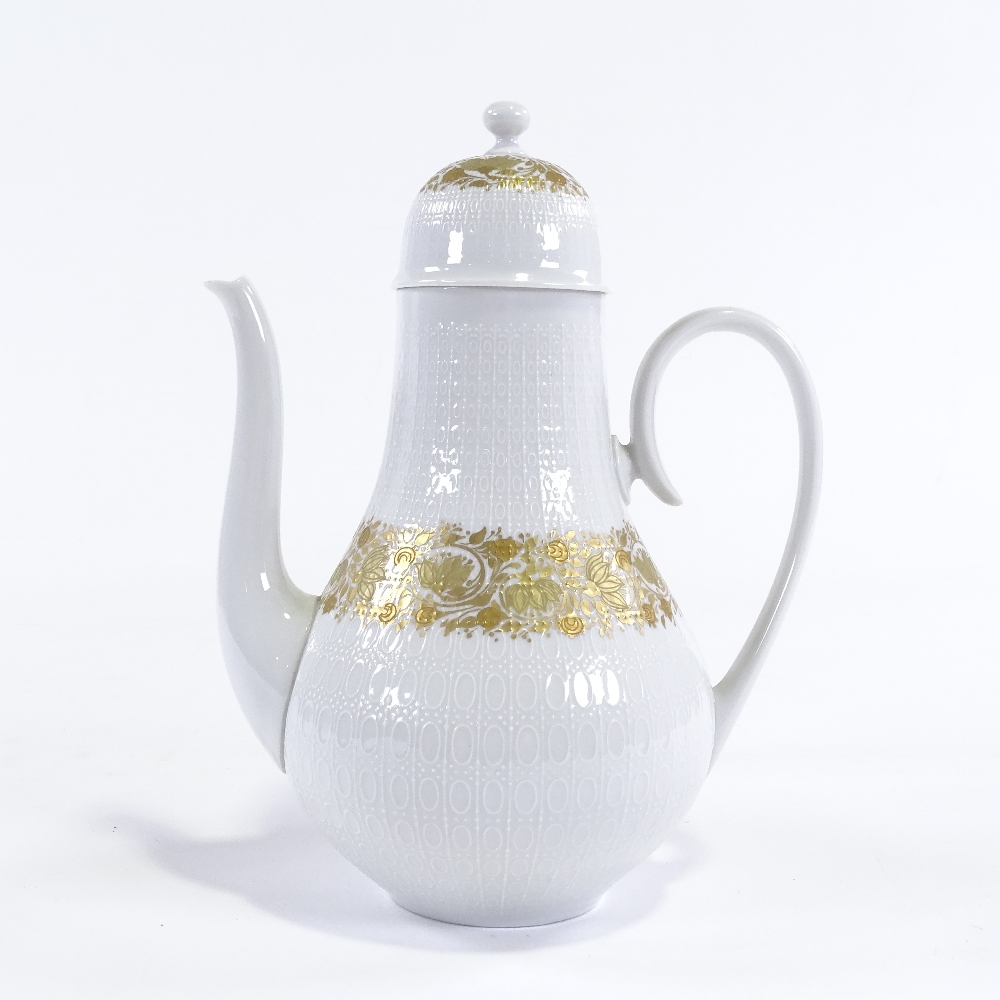 BJORN WIINBLAD FOR ROSENTHAL - a Mid-Century German porcelain Romanze mocha / coffee pot and - Image 2 of 5