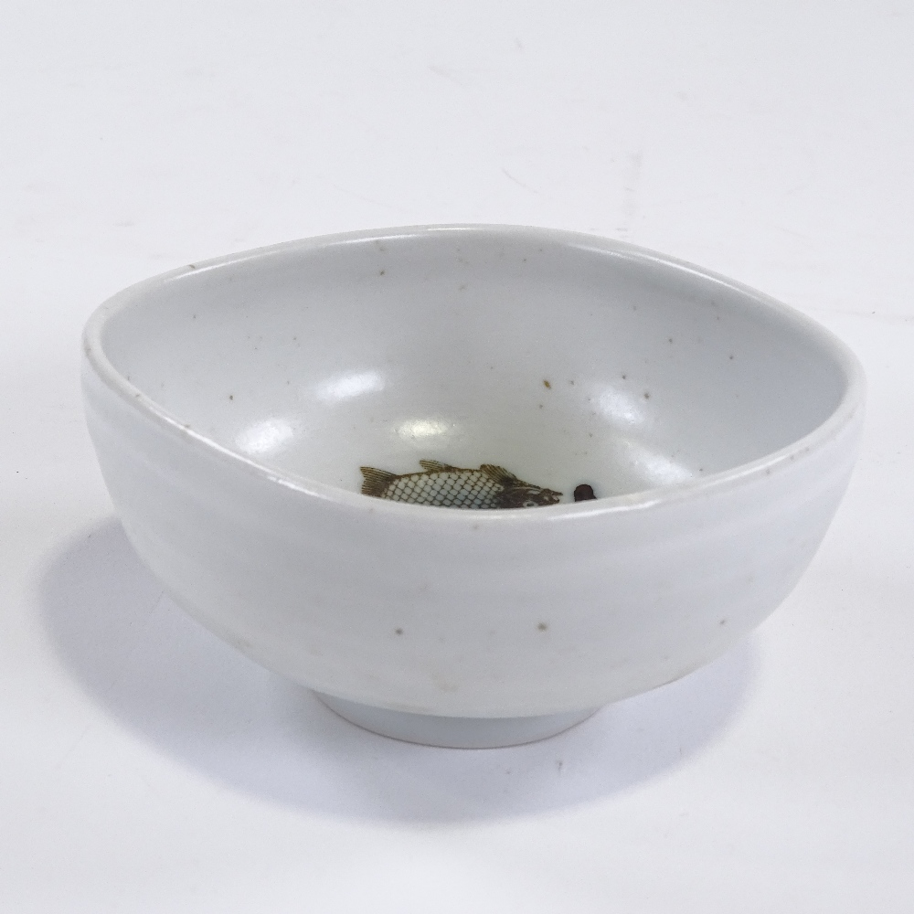 NILS THORSSON FOR ROYAL COPENHAGEN - a Mid-Century Danish pottery Diana Series bowl, rounded - Image 5 of 5