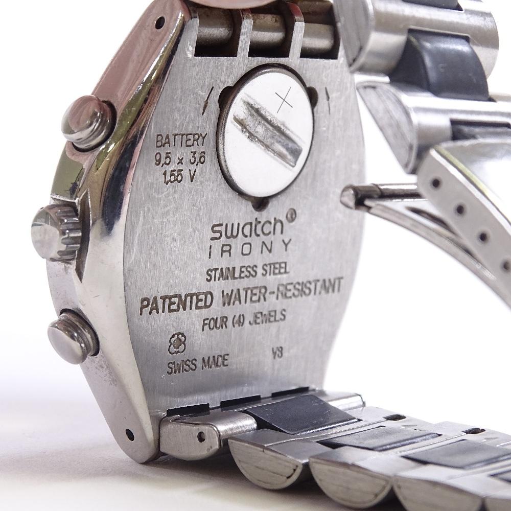 SWATCH - a stainless steel Irony Windfall quartz chronograph wristwatch, ref. YCS410GX, circa - Image 4 of 5
