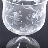 SIGURD PERSSON - a Mid-Century Swedish glass Flowers pedestal bowl, circa 1960s,