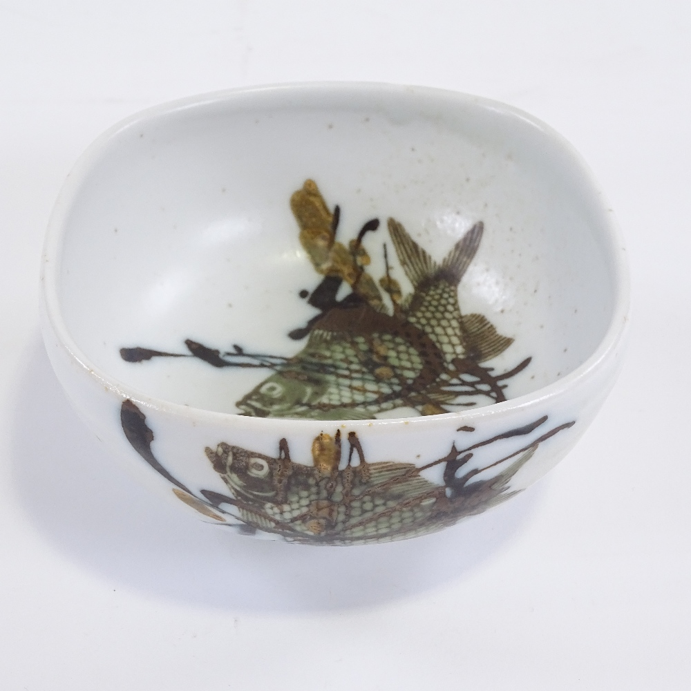 NILS THORSSON FOR ROYAL COPENHAGEN - a Mid-Century Danish pottery Diana Series bowl, rounded - Image 2 of 5