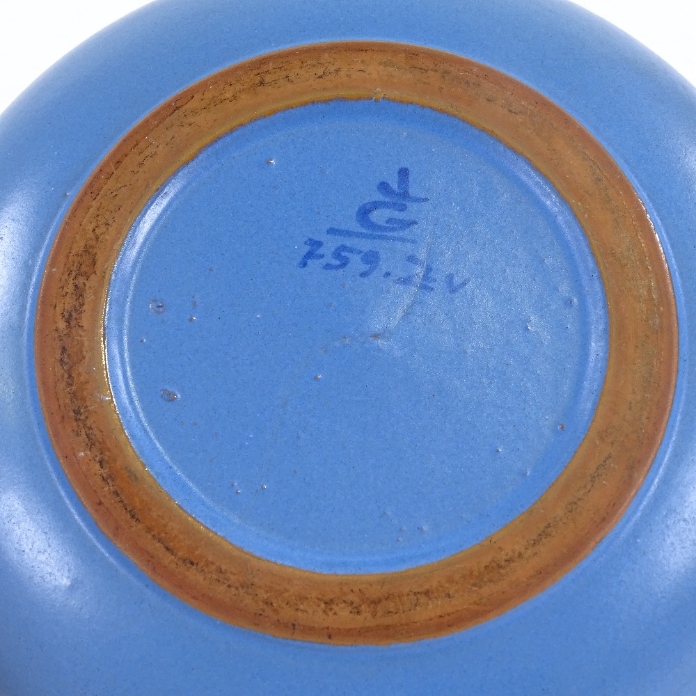 LISA LARSON FOR GUSTAVSBERG - a Swedish Studio Pottery horse dish, signature on base with model - Image 4 of 5