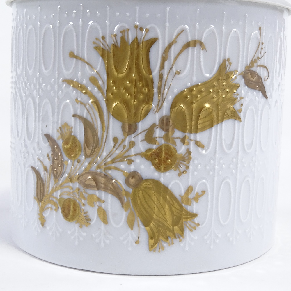 BJORN WIINBLAD FOR ROSENTHAL - a Mid-Century German porcelain Romanze sugar jar and cover, - Image 2 of 5