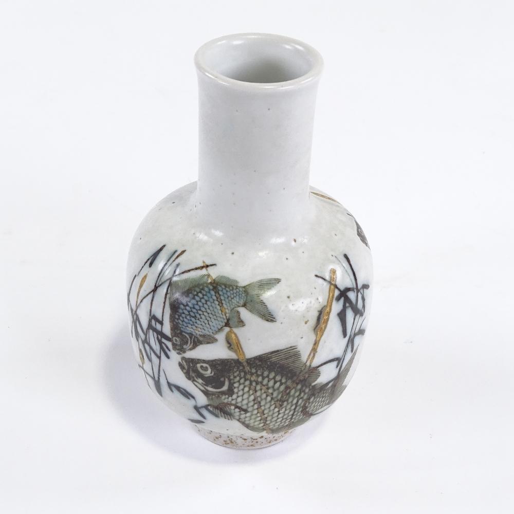 NILS THORSSON FOR ROYAL COPENHAGEN - a Mid-Century Danish pottery Diana Series vase, narrow neck - Image 3 of 5