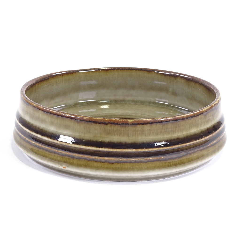 OLE ALBERIUS FOR RORSTRAND - a Mid-Century Swedish Studio Pottery Bamboo dish, squat cylindrical - Image 4 of 5