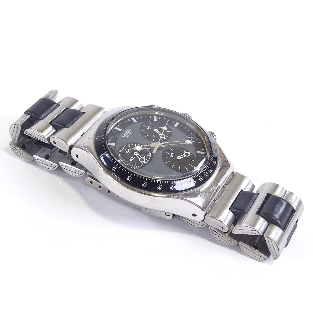 SWATCH - a stainless steel Irony Windfall quartz chronograph wristwatch, ref. YCS410GX, circa - Image 5 of 5
