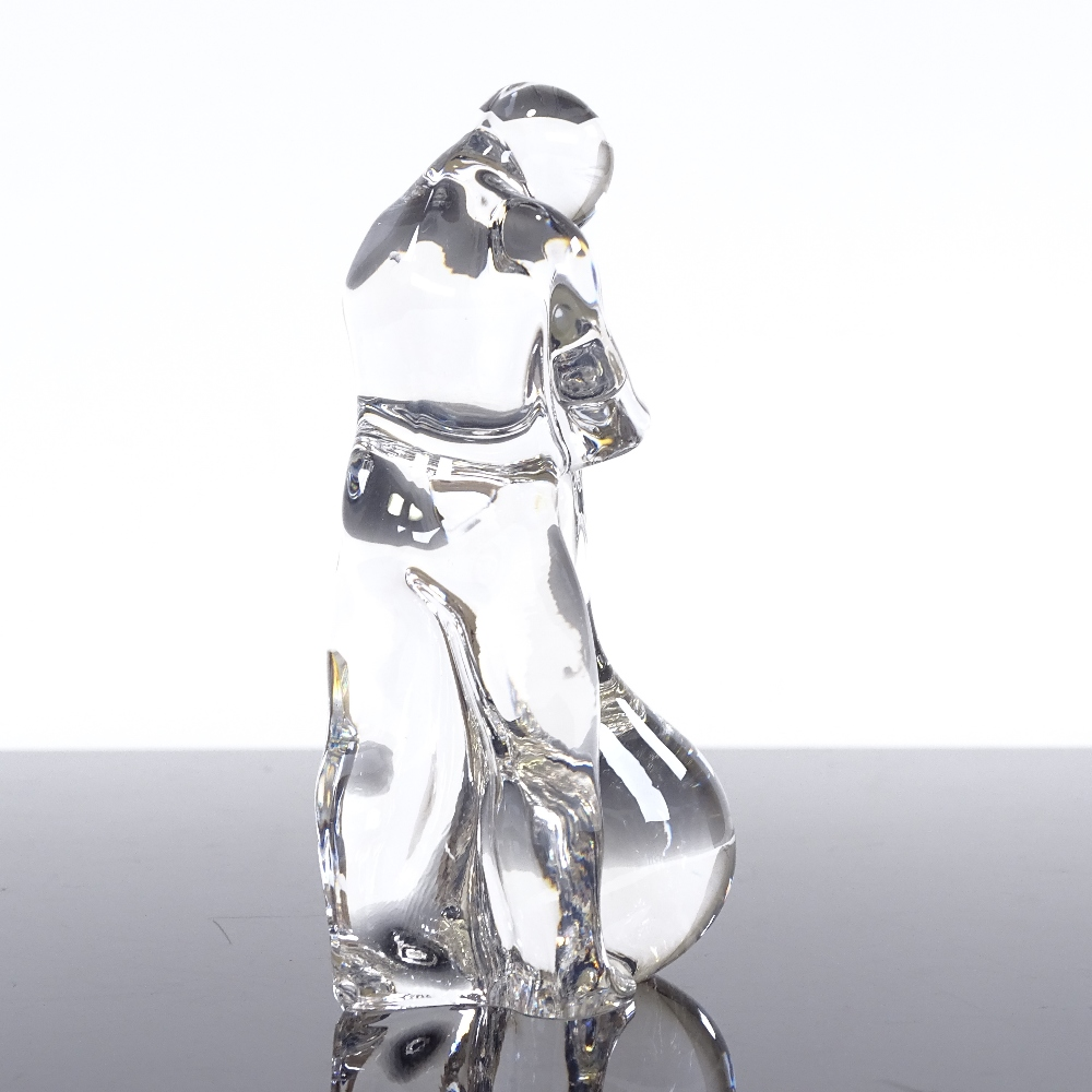 OLLE ALBERIUS FOR ORREFORS - a Swedish Art Crystal Craftsman Series glass blower paperweight figure - Image 2 of 5