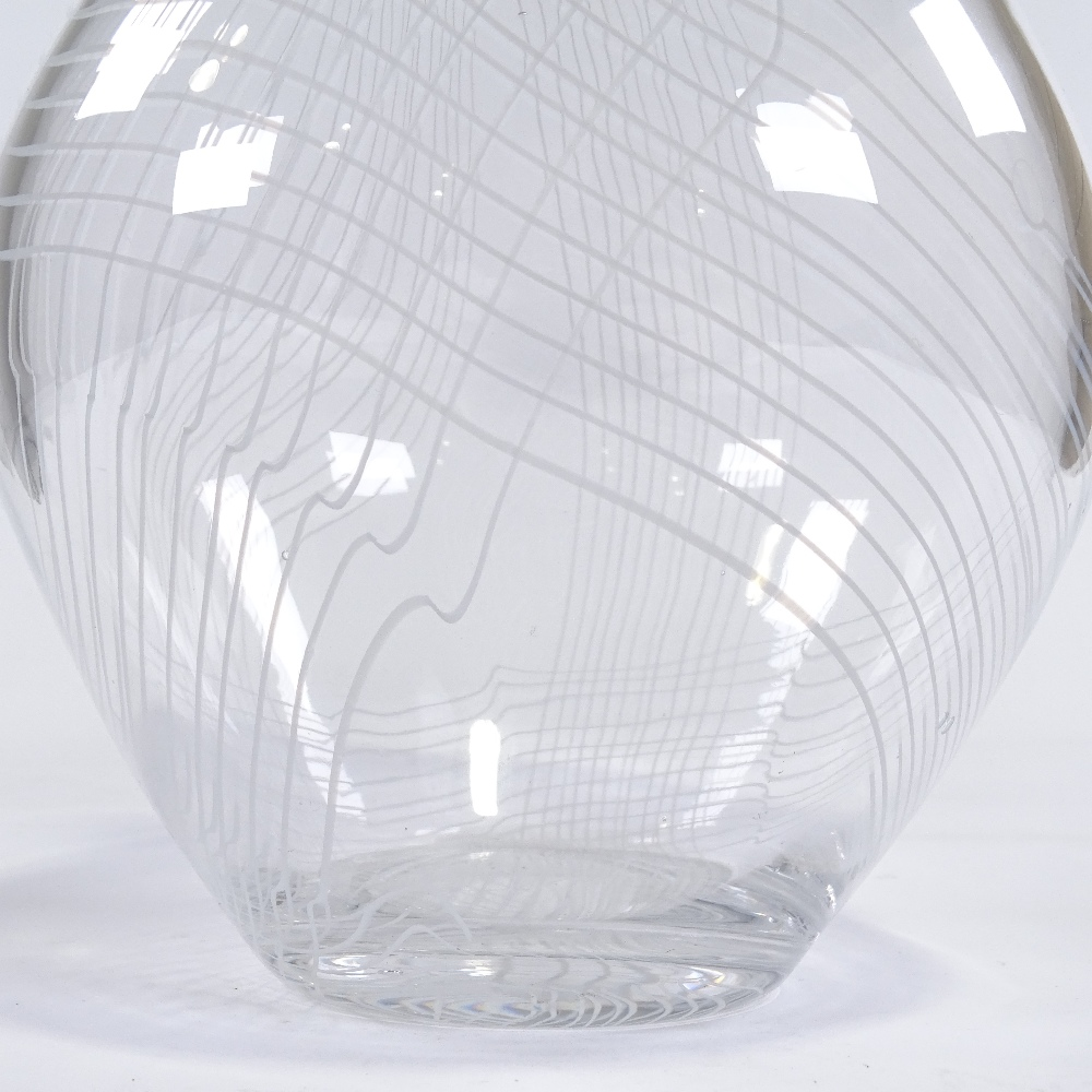 VICKE LINDSTRAND FOR KOSTA - a large Mid-Century Swedish Studio glass Arabesk vase, circa 1955, - Image 3 of 5
