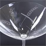 VICKE LINDSTRAND FOR KOSTA - a Vintage Swedish clear glass bon bon dish, circa 1965, etched