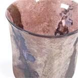 ALFREDO BARBINI MURANO - a Mid-Century Venetian purple glass Scavo vase, circa 1960s, fluted