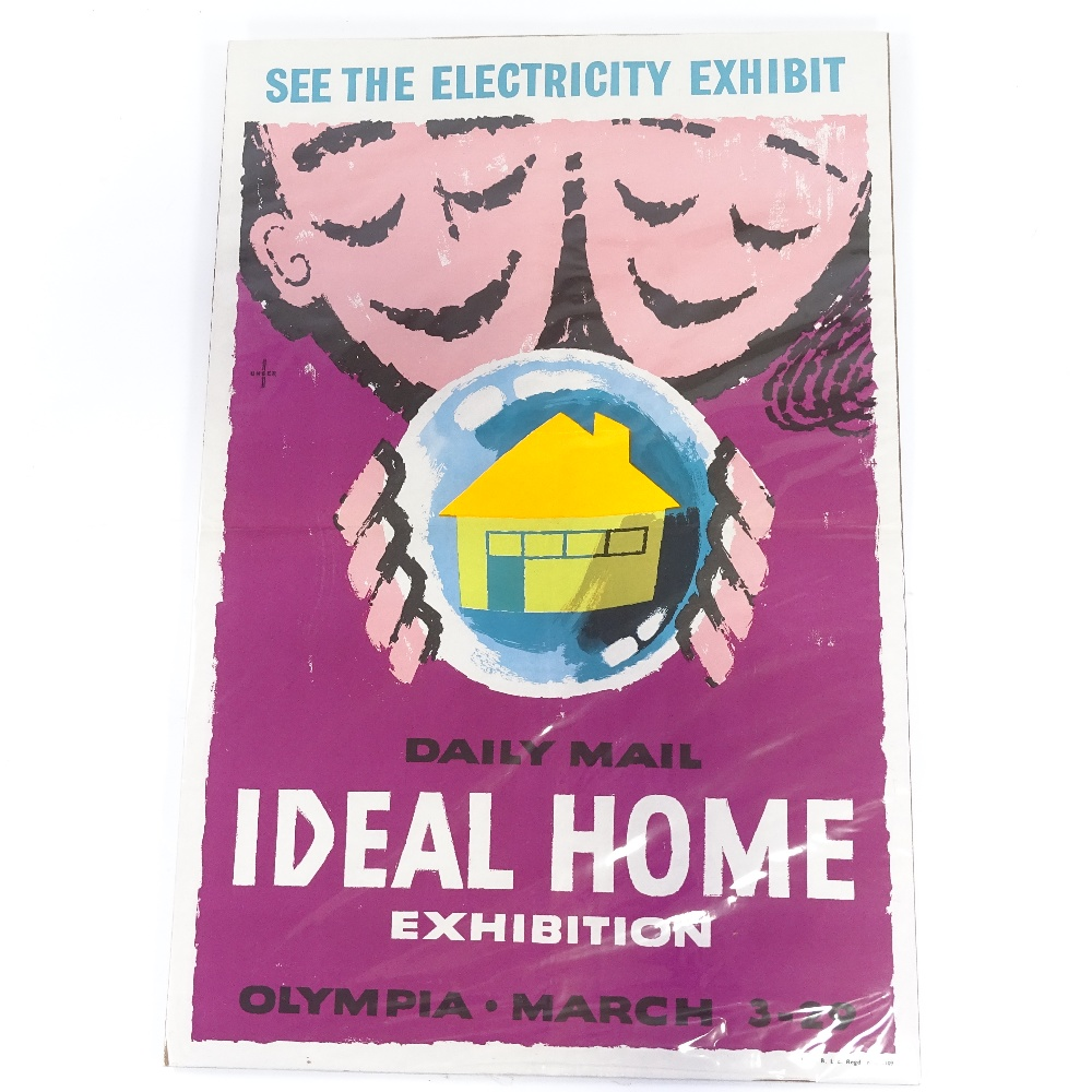 HANS UNGER (1915-1975) - a Mid-Century poster, Daily Mail Ideal Home Exhibition, circa 1958...
