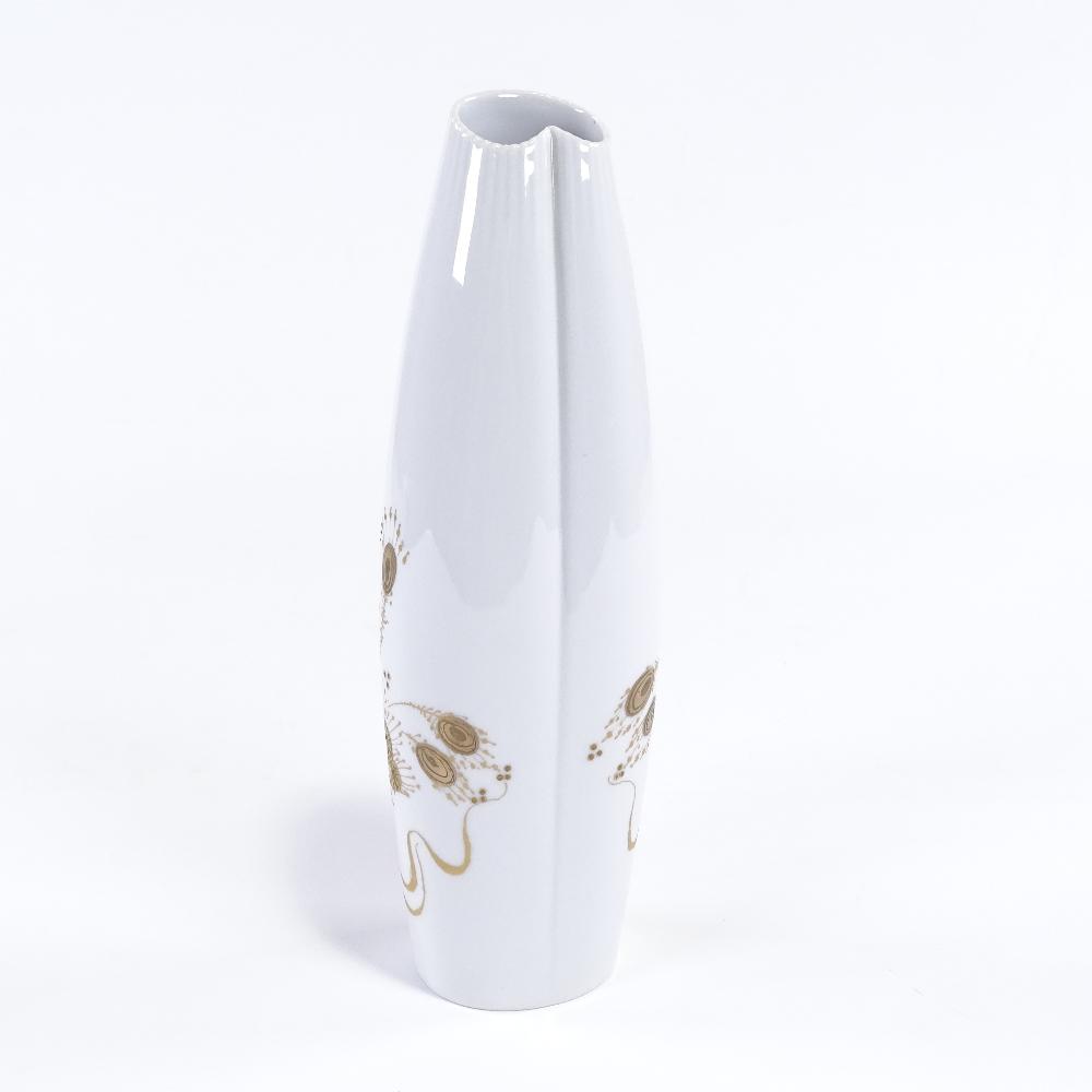 BJORN WIINBLAD FOR ROSENTHAL - a modernist Quatre Couleurs Studio Linie porcelain vase, folded - Image 3 of 5