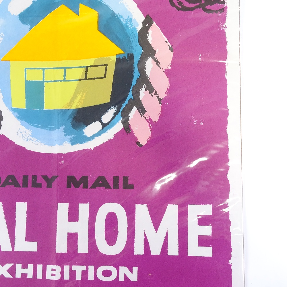 HANS UNGER (1915-1975) - a Mid-Century poster, Daily Mail Ideal Home Exhibition, circa 1958... - Image 5 of 5