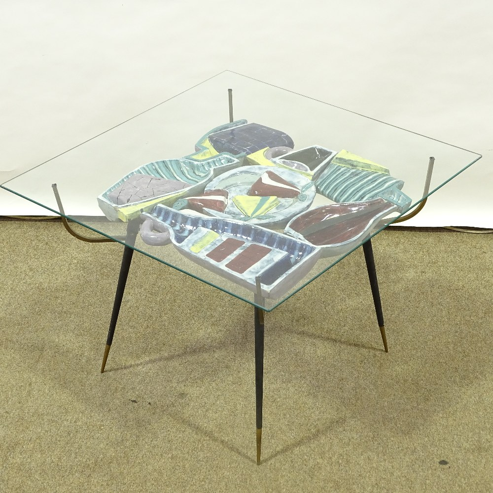 OTELLO ROSA FOR SAN POLO DESIGN - a Mid-Century Italian coffee table, circa 1950s, polychrome - Image 2 of 5