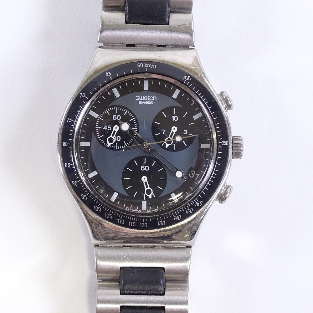 SWATCH - a stainless steel Irony Windfall quartz chronograph wristwatch, ref. YCS410GX, circa