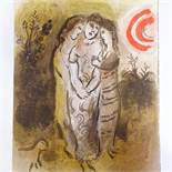 MARC CHAGALL - original colour lithograph, Naomi and her Daughters-in-Law, published by Verve