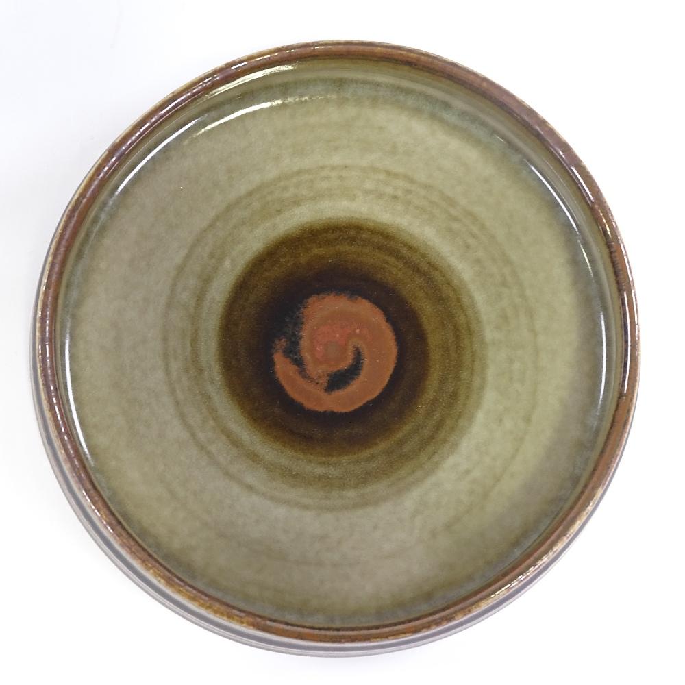 OLE ALBERIUS FOR RORSTRAND - a Mid-Century Swedish Studio Pottery Bamboo dish, squat cylindrical - Image 3 of 5