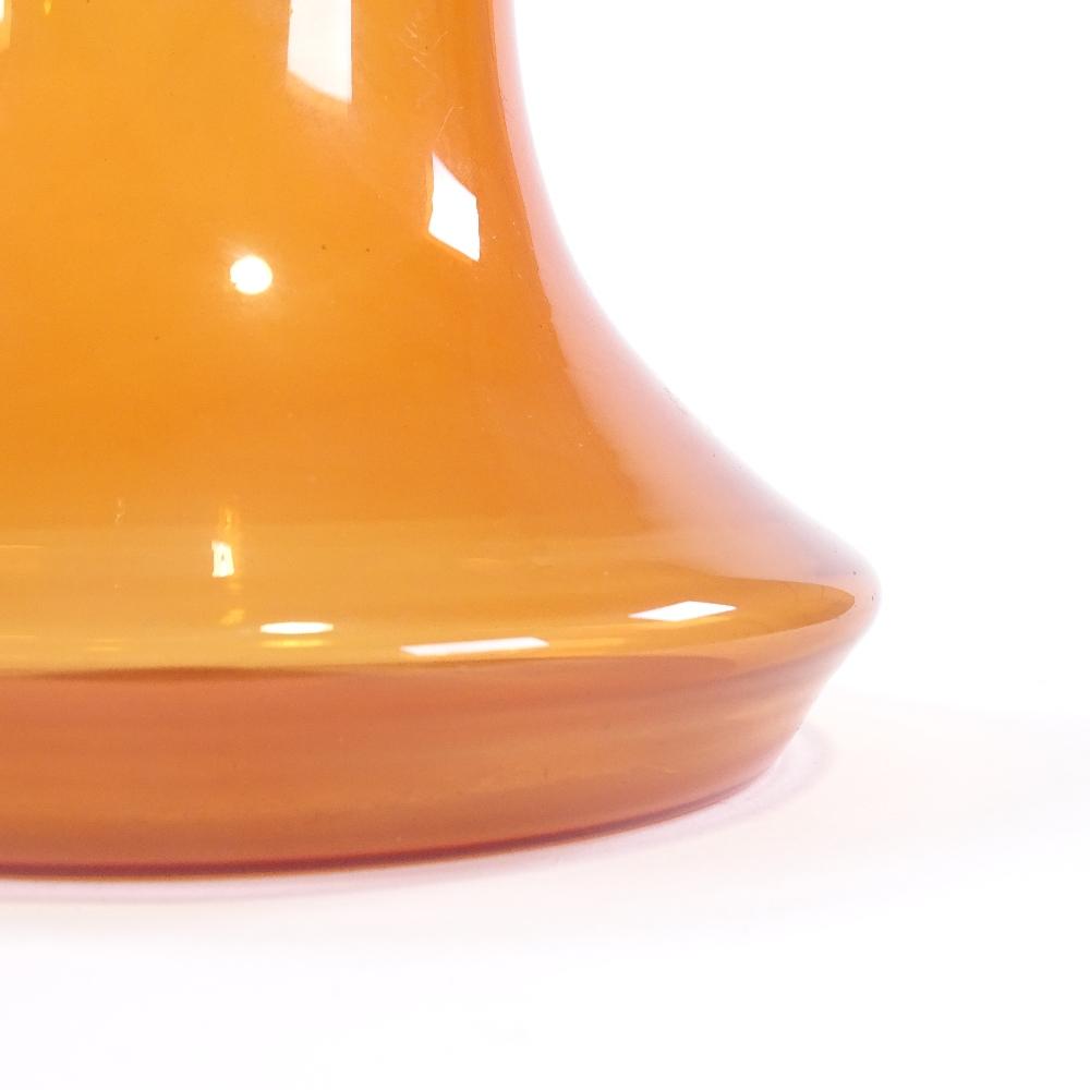 TOBIA SCARPA FOR VENINI - a Mid-Century Venetian Murano orange glass cocktail flask, circa 1954, - Image 4 of 5