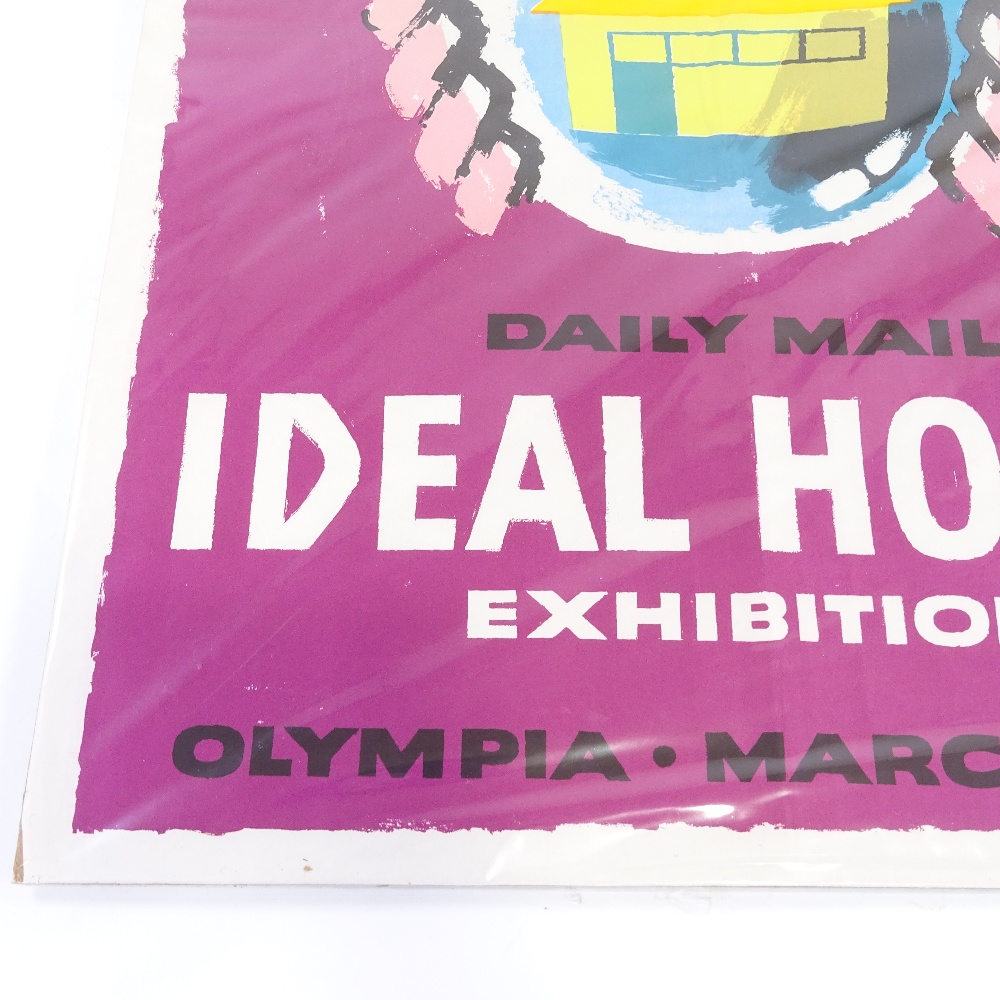HANS UNGER (1915-1975) - a Mid-Century poster, Daily Mail Ideal Home Exhibition, circa 1958... - Image 4 of 5