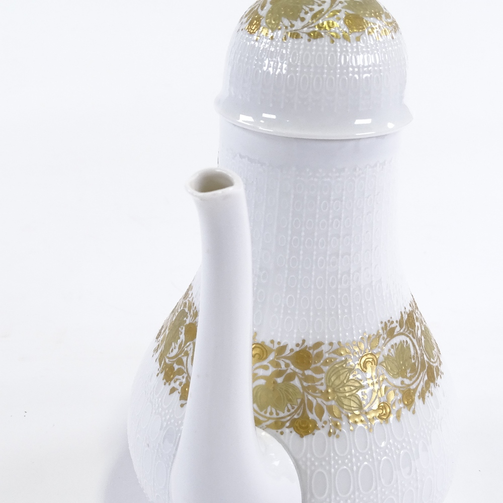 BJORN WIINBLAD FOR ROSENTHAL - a Mid-Century German porcelain Romanze mocha / coffee pot and - Image 3 of 5