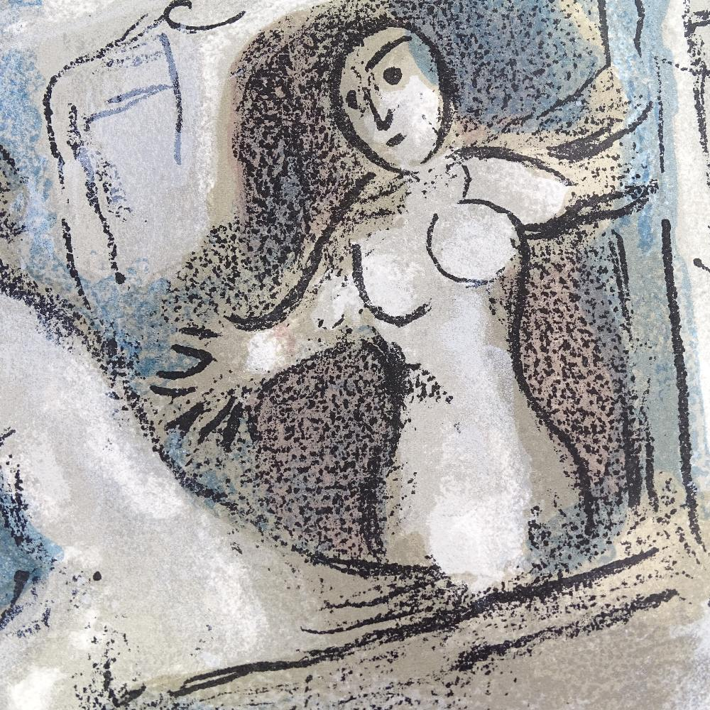 MARC CHAGALL - original colour lithograph, David Saved by Michal from The Bible, published by - Image 3 of 5