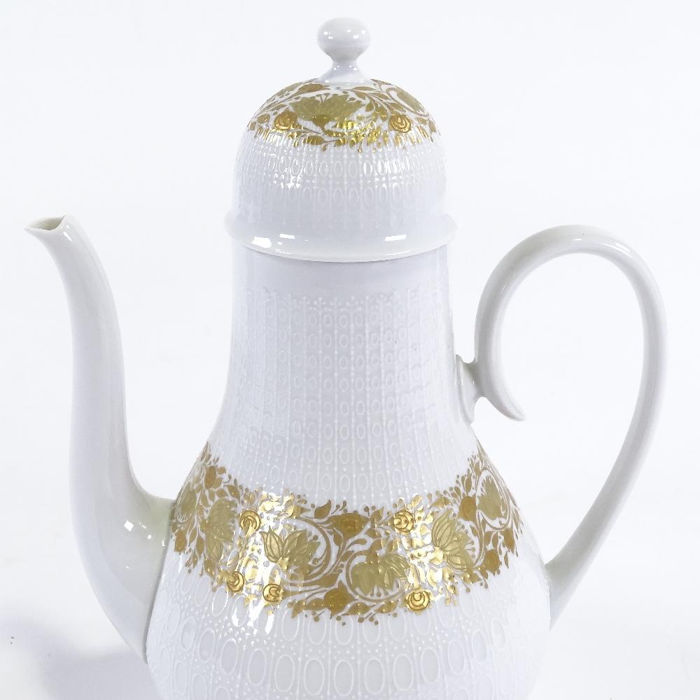 BJORN WIINBLAD FOR ROSENTHAL - a Mid-Century German porcelain Romanze mocha / coffee pot and