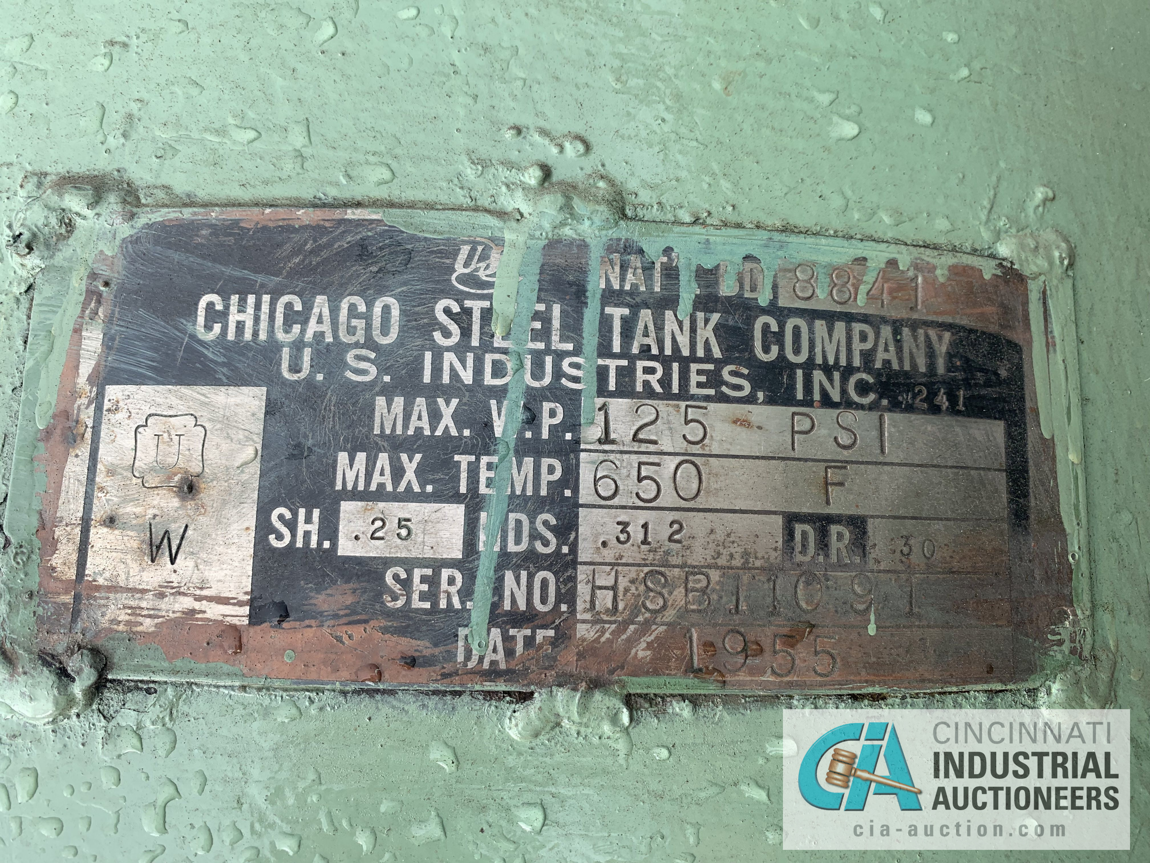 CHICAGO STEEL AIR TANK - $20.00 Rigging Fee Due to Onsite Rigger - Located in Holland, Ohio - Image 3 of 3
