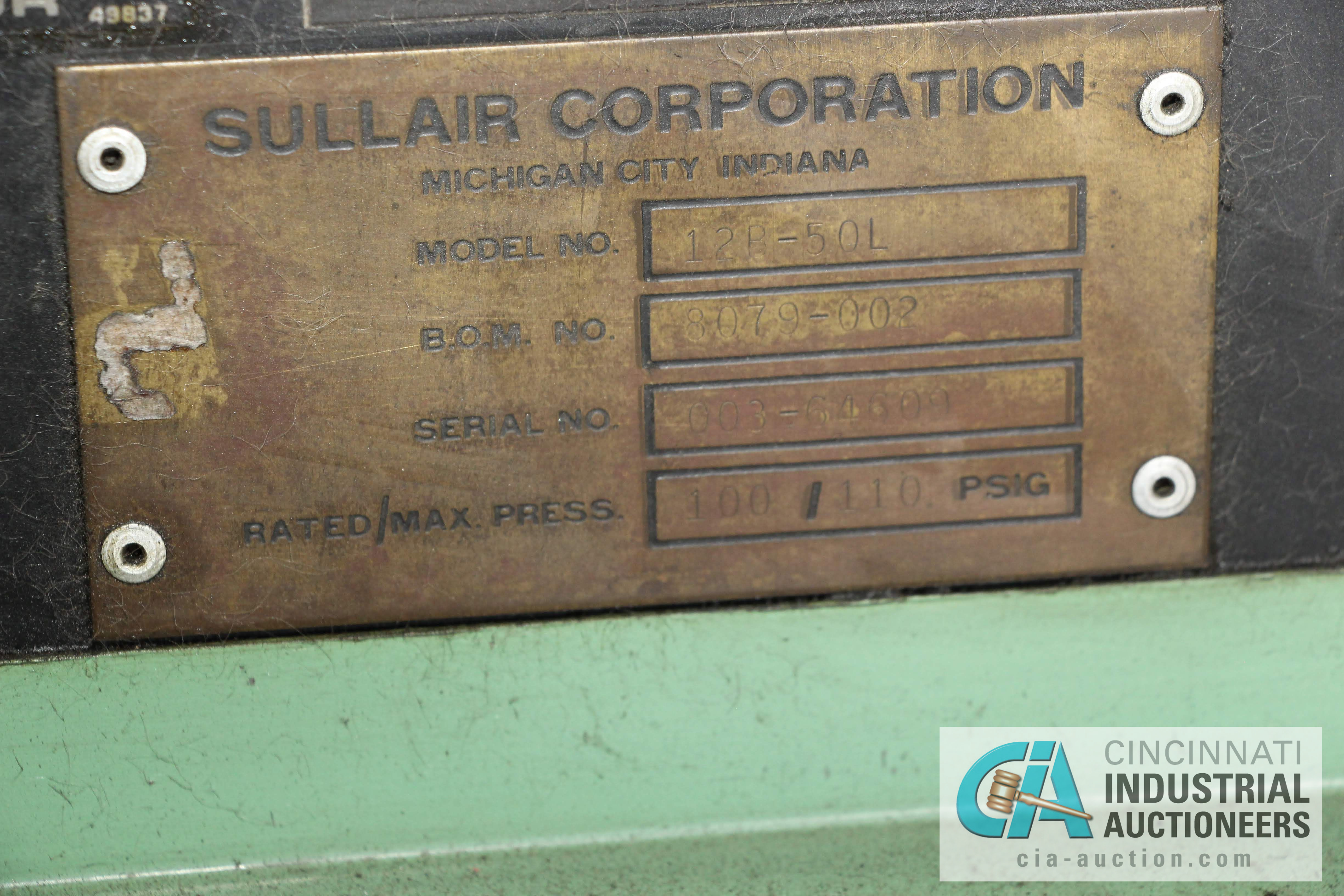 50 HP SULLAIR MODEL 12B-50L ROTARY SCREW AIR COMPRESOR - $50.00 Rigging Fee Due to Onsite Rigger - - Image 2 of 3