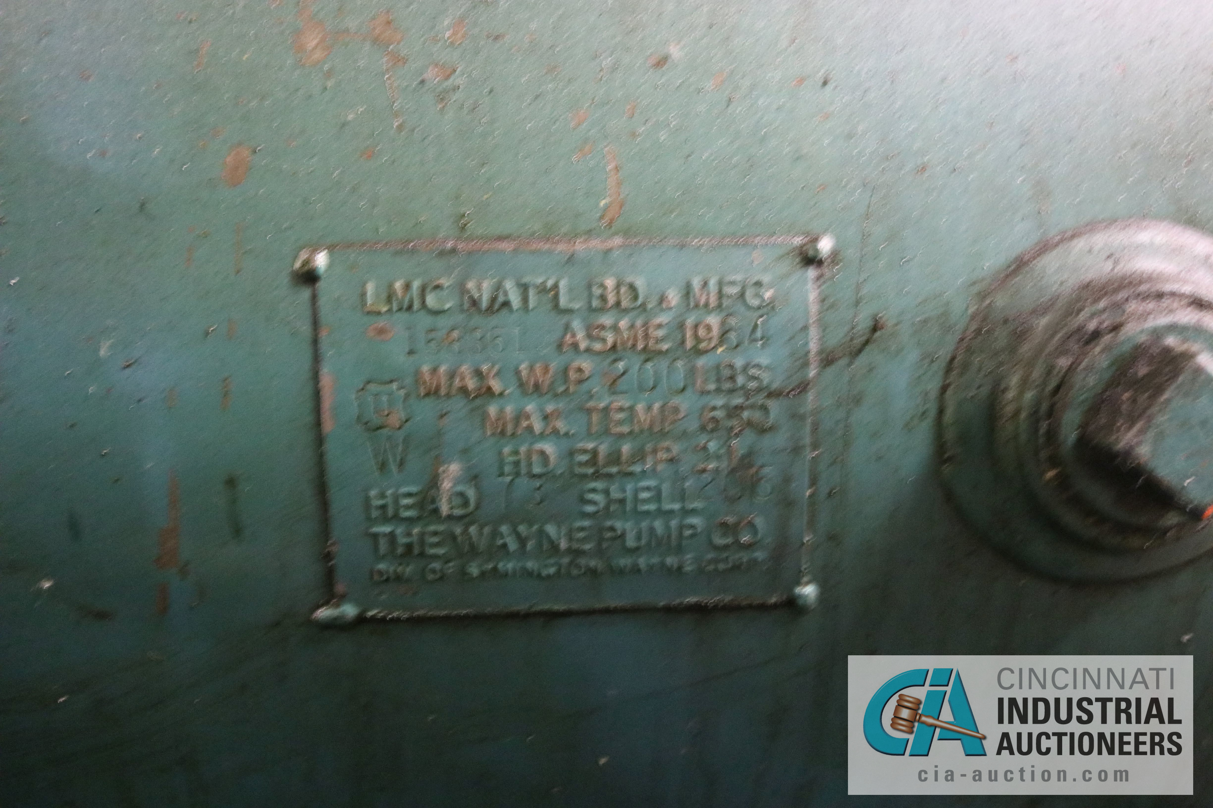 20 HP HORIZONTAL AIR COMPRESSOR - $100.00 Rigging Fee Due to Onsite Rigger - Located in Bryan, Ohio - Image 3 of 3