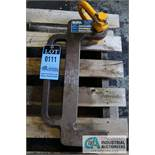 """1,000 LB. COIL LIFT C HOOK; 5"""" PICK TONGUE, 16"""" HEIGHT INSIDE C - Located in Bryan, Ohio"""
