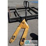 YELLOW MANUAL PALLET JACK - $10.00 Rigging Fee Due to Onsite Rigger - Located in Holland, Ohio