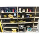 (LOT) ELECTRICAL WIRE (11-SHELVES W/ SPOOLS) - $25.00 Rigging Fee Due to Onsite Rigger - Located