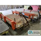 """48"""" X 96"""" LOW PROFILE HEAVY DUTY STEEL TRANSFER CART - $20.00 Rigging Fee Due to Onsite Rigger -"""