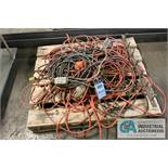 PALLET OF EXTENSION CORDS - $10.00 Rigging Fee Due to Onsite Rigger - Located in Bryan, Ohio
