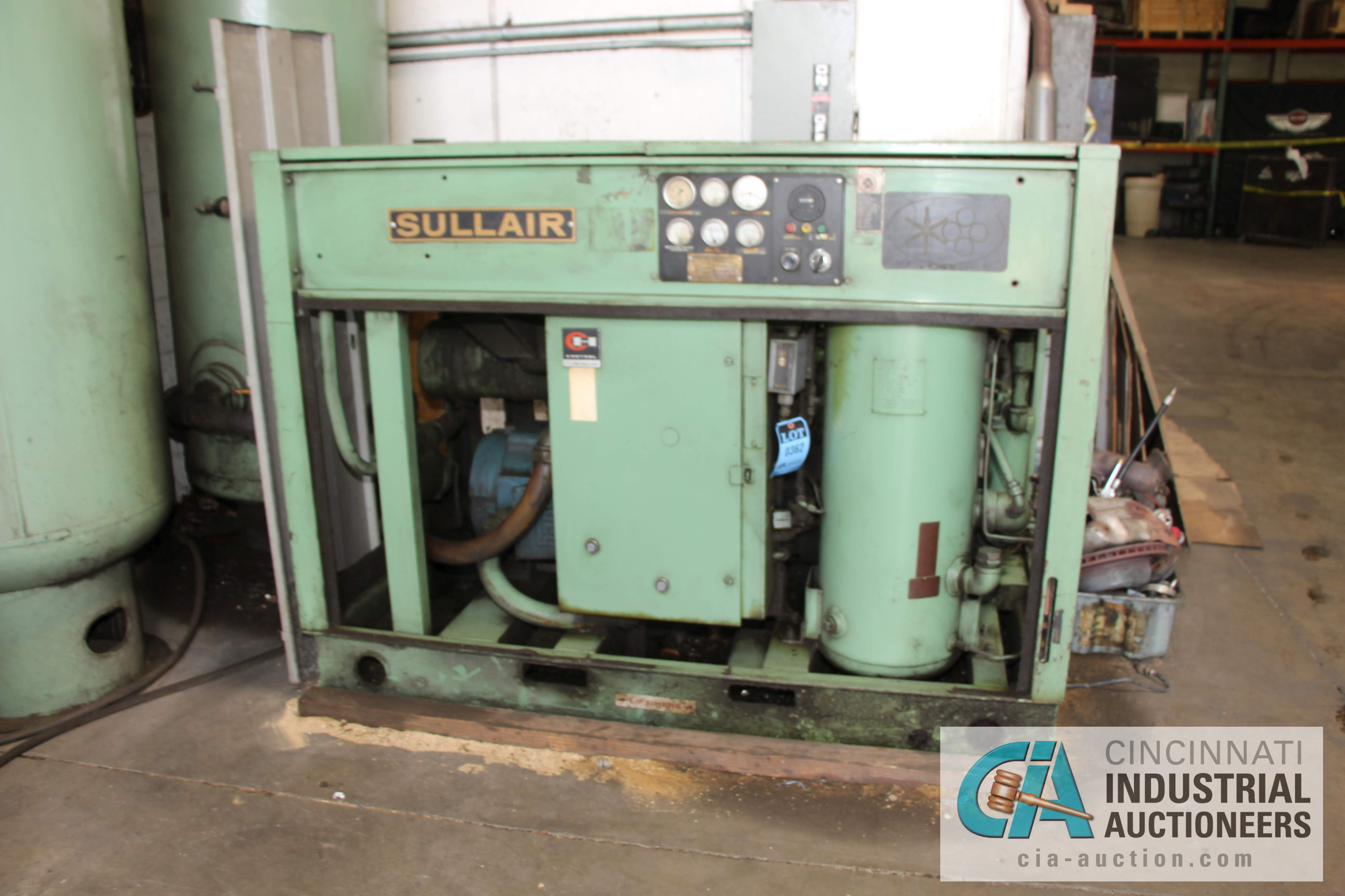 50 HP SULLAIR MODEL 12B-50L ROTARY SCREW AIR COMPRESOR - $50.00 Rigging Fee Due to Onsite Rigger -