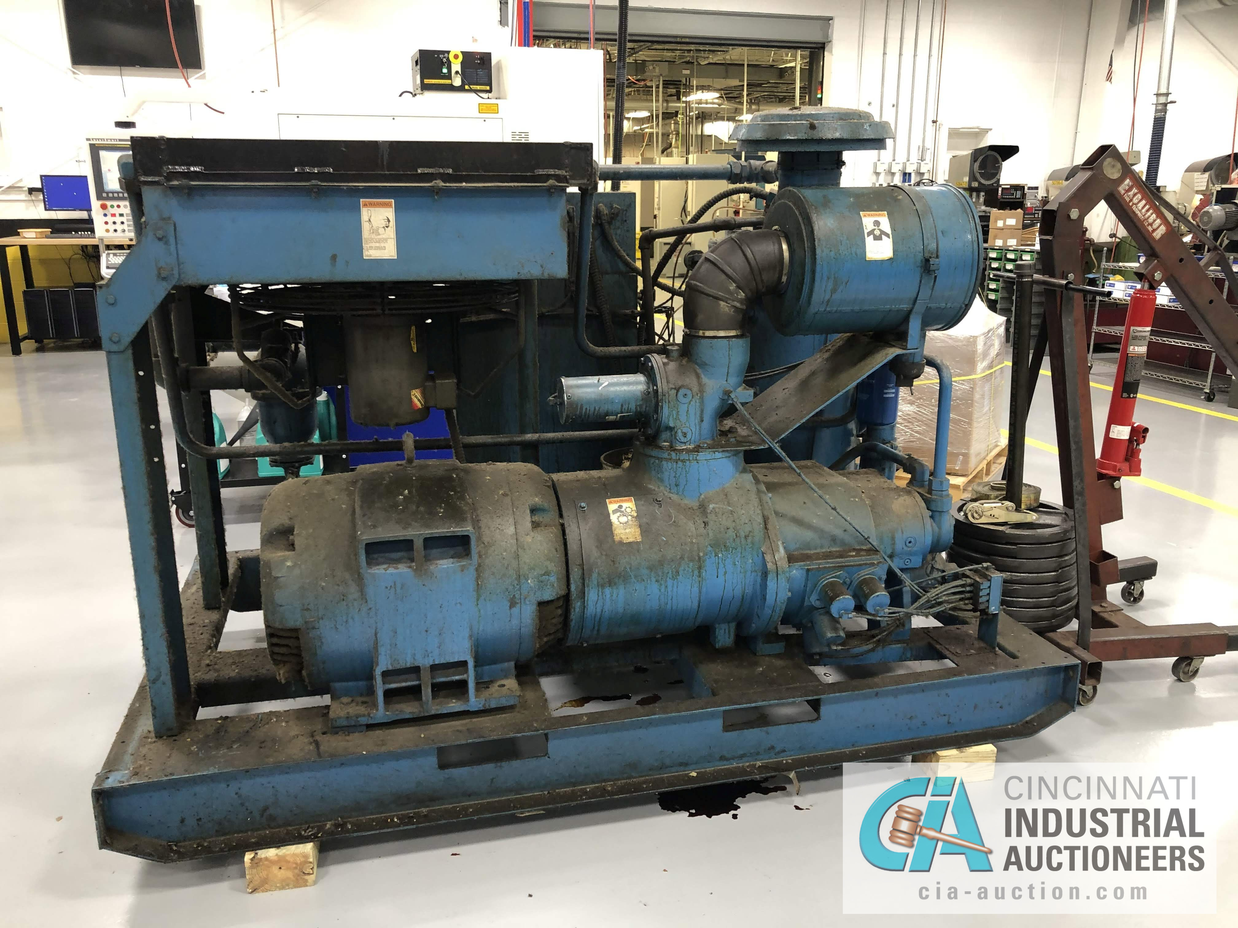 100 HP QUINCY MODEL QSI500-ANA31ED ROTARY SCREW AIR COMPRESSOR - $50.00 Rigging Fee Due to Onsite - Image 3 of 4