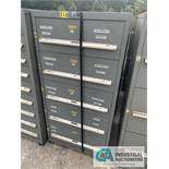 "30"" X 27"" X 59"" SIX-DRAWER STANLEY VIDMAR TOOL CABINET - $10.00 Rigging Fee Due to Onsite Rigger -"
