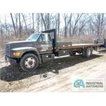 1998 FORD STAKE BED TRUCK; 220,084 MILES, VIN #3FENF8016XMA03141 - Located in Holland, Ohio
