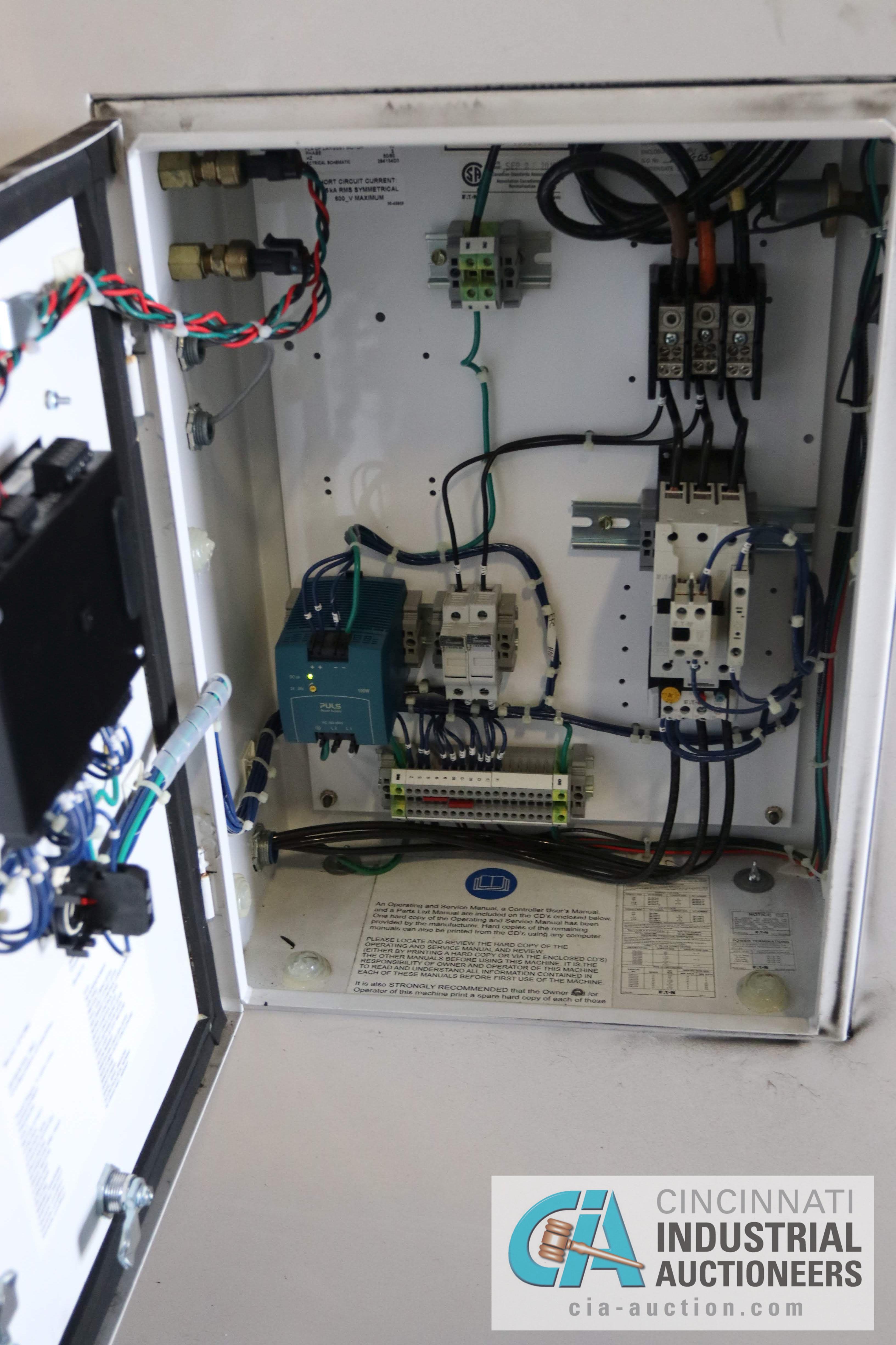 30 HP GARDNER DENVER MODEL EFC99J ROTARY SCREW AIR COMPRESSOR; 125 PSIG, 9,827 HOURS - $150.00 - Image 4 of 4