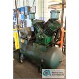 20 HP HORIZONTAL AIR COMPRESSOR - $100.00 Rigging Fee Due to Onsite Rigger - Located in Bryan, Ohio
