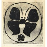 ALAN REYNOLDS, R.A. [1926-2014]. Black Moth, 1967. Etching, edition of 10 [1/10]. Signed. 33 x30