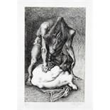 MICHAEL AYRTON [1921-75]. Minotaur Full Grown, 1971. Etching, edition of 75, artist's proof V111/