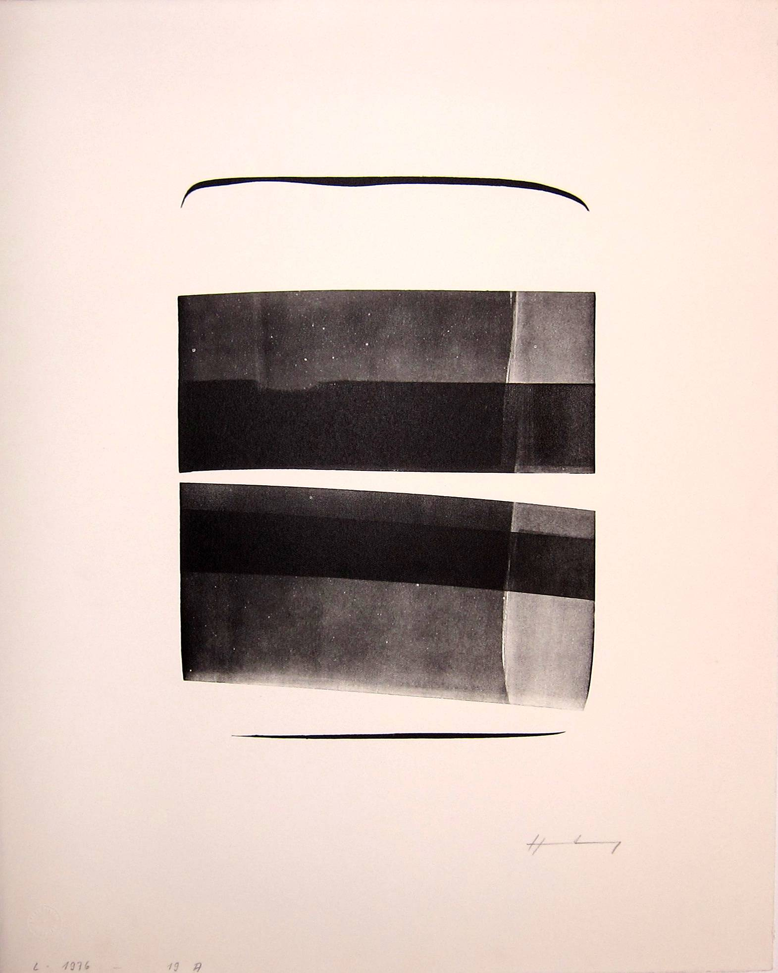 HANS HARTUNG [1904-89]. L-1976-19A, 1976. Lithograph, [edition of 50?], proof. Erker Press.