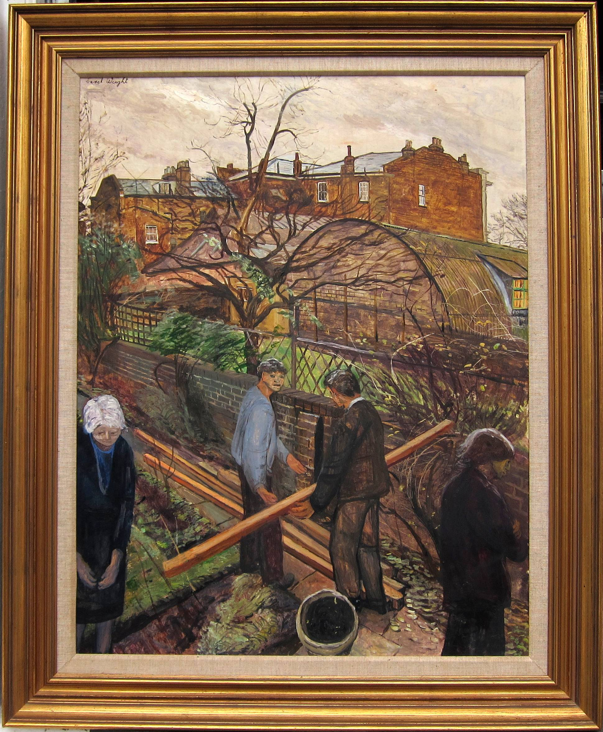 Lot 39 - CAREL WEIGHT, R.A. [1907-97]. The Builders [a view from the artist's bedroom window - 33 Spencer